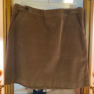 Tan Corduroy Mini Skirt
